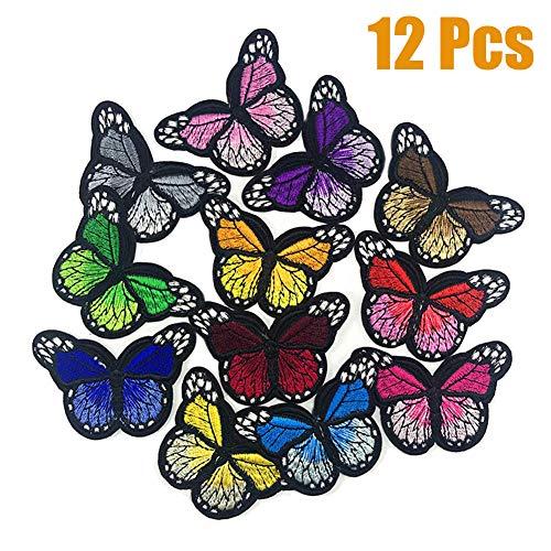 Parches bordados para planchar con diseño de mariposa, varios tamaños, para coser o coser, para chaquetas, ropa, bolso, zapatos, gorras para niños y adultos