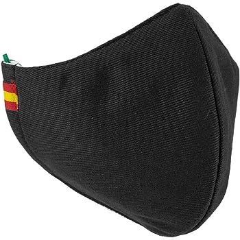 Piel Cabrera Mascarilla Negra Bandera España: Amazon.es: Ropa y accesorios