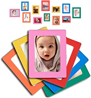 Raxwalker Magnetic Photo Frames and Refrigerator Magnets Holds 4x6 3.5x5 2.5x3.5 Inches