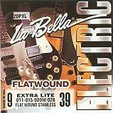 Labella L20PX Jeu de Cordes pour Guitare Electrique 09/39 Flat Wound Extra Light