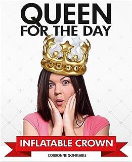 """Preis am Stiel Corona hinchable """"Queen for the Day"""", artículo de fiesta, fiesta temática, cumpleaños, despedida de soltero, carnaval, Reina del día"""