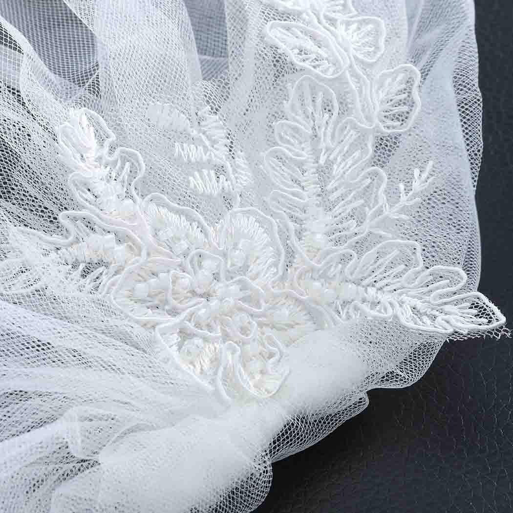 Zoestar Wedding Lace Birdcage with Comb Bridal Hair Accessories for Women (White)
