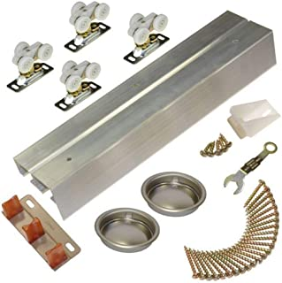 Johnson Hardware 118F Sliding Bypass Door Hardware (60 Inch - 2 Door System)