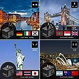 Reiseadapter MustWin Universal Reisestecker 5,6A Travel Adapter Weltweit mit 4 USB +Type C +AC Steckdosen +Doppelsicherung +Tasche für Internationale 224+ Länder Europa UK USA Australien China USW - 4