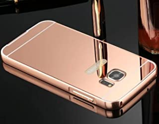 HTC One M9/Hima Case, Shiny Awesome Make-up Mirror Plated Aluminum Metal Frame Bumper Slim Cover, TAITOU Cool 2 in 1 Ultralight Thin Phone Case For HTC M9 Rose Gold