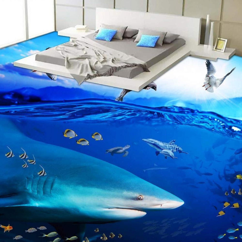 buena reputación YYBHTM Océano Tiburón Peces Peces Peces Tropicales Aseo Dormitorio 3D Piso Grueso Antideslizante Cocina Comercial Centro Comercial Baño Piso Mural  gran descuento