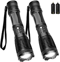 [2 PACK] Newdora Ultra Bright LED Taclight Water Resistant Flash Light with Adjustable Focus and 5 Light Modes for Camping...