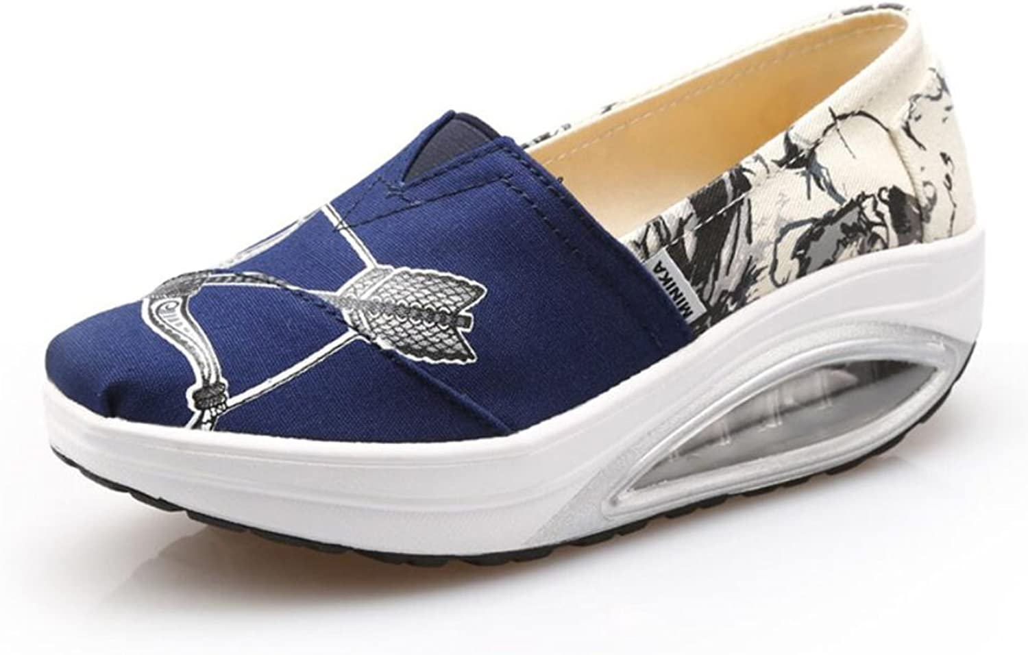Women's shoes Spring Fall Loafers & Slip-Ons Driving shoes Fitness Shake shoes Shake shoes Shaking shoes Flat Loafers Sneakers Athletic shoes Platform shoes (color   A, Size   37)
