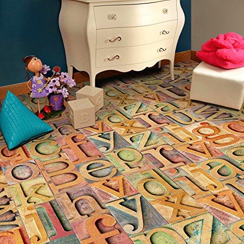 JKKJ Calcomanía adhesiva de 20 x 50 cm para pared de suelo de azulejos de bricolaje, decoración tradicional impermeable para el hogar (B)