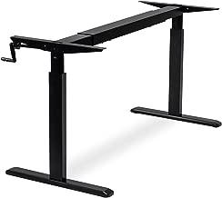 "47/"" H Titan 30"" x 60/"" S5 Adjustable Height Sit To Stand Black Desk 28/"""