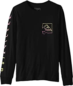 Quik Distortion Long Sleeve Tee (Big Kids)
