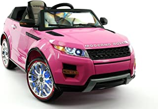 2017 Pink Range Rover Style 12V Ride On Car W/ Remote Control, 2 Speeds, Leather Seat, LED Light