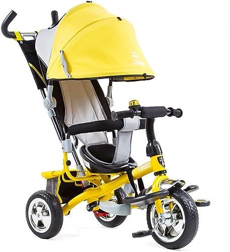 C  Mini Bikes Bike Little 4 In 1 Kids with Lighting Backrest In Many Größe Optional Gelb (Style 5)