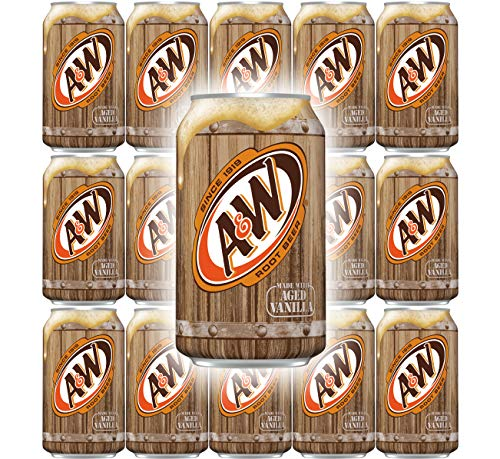 A&W Root Beer, 12 Fl Oz Can, (Pack of 15, Total of 180 Fl Oz)