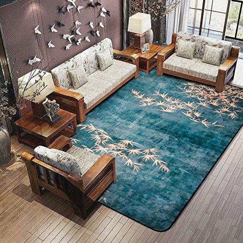 OSJCYASBZ Europäische Teppich China Wind Teppich xiandai Chinese Style Teppich Living Room,Schlafzimmer,Wand-Wand-Teppich am Bett-A 180x180cm(71x71inch)