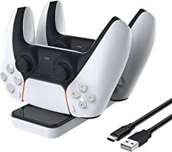 PS5 Controller Charger -The Most Convenient PlayStation 5 Controller Charging Dock Station with 2 Detachable USB-C Ports for Convenient Place and Fully charged in less than 3 hours