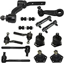 Detroit Axle - 4x4 Models Only - Complete 14-Piece Front Suspension Kit - 10-Year Warranty- Front: All Four Tie Rod Ends, All Four Ball Joints, Pitman Arm, Idler Arm, 2 Adjusting Sleeves
