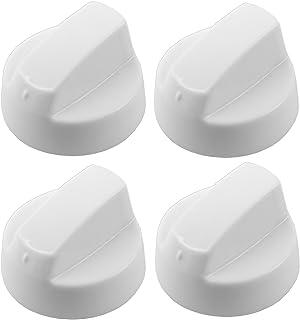 Spares2go Universal blanco mando de control para todas las marcas y modelos de hornos y fuegos (paquete de 4)