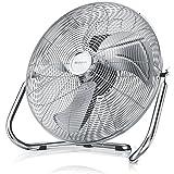 Brandson 48 W Ventilateur en Design rétro Chrome - 38,5 cm de diamètre - Trois Vitesses Low - Medium - High - débit d'air élevé - tête du Ventilateur réglable - métal Solide