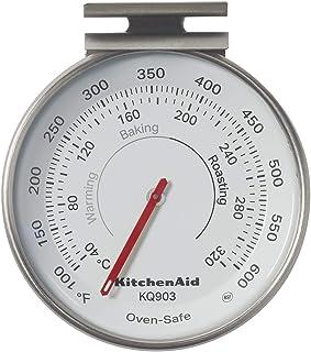 KitchenAid 3-in Dial Oven Thermometer, TEMPERATURE RANGE: 100°F to 600°F, Black