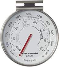 KitchenAid 3-in Dial Oven Thermometer, TEMPERATURE RANGE: 100F to 600F, Black