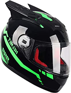 Motorcycle Scooter Open Helmet, Unisex Adult Half-Face Helmet, Full Face Flip Modular Motorcycle Helmet Double Visor Motoc...