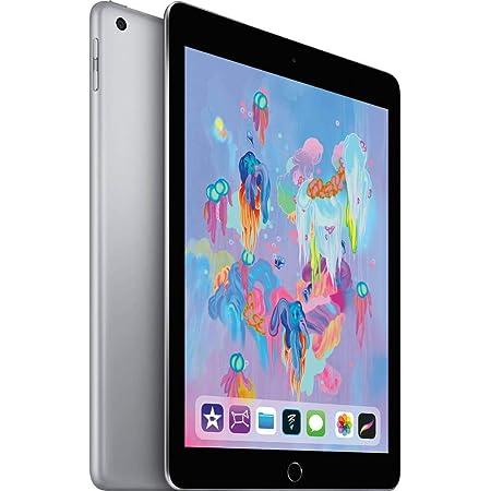 Apple iPad with WiFi, 128GB, Space Gray (2018 Model) (Renewed)