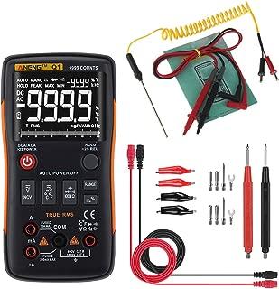 Numkuda Multi Testers Q1 True-RMS Digital Multimeter Button 9999 Counts Analog Bar Graph AC/DC Tester