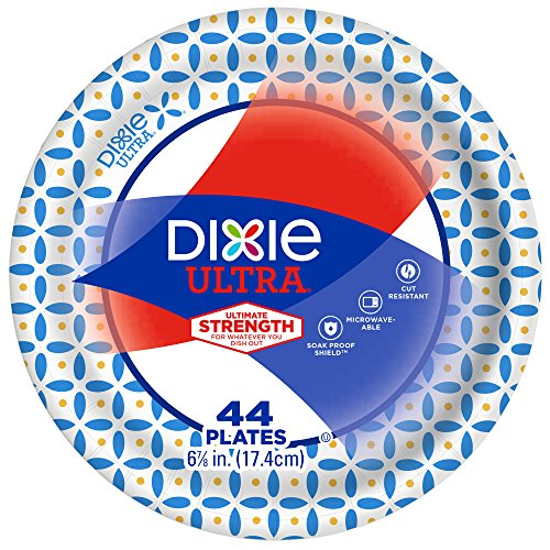 Dixie Ultra Paper Plates, 6 7/8 Inch Plates, 176 Count (4 Packs of 44...