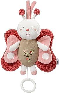 Fehn 068047 Spieluhr Schmetterling / Aufzieh-Spieluhr mit herausnehmbarem Spielwerk zum Aufhängen, Kuscheln und Greifen / Melodie Mozarts Wiegenlied für Babys und Kleinkinder ab 0 Monaten