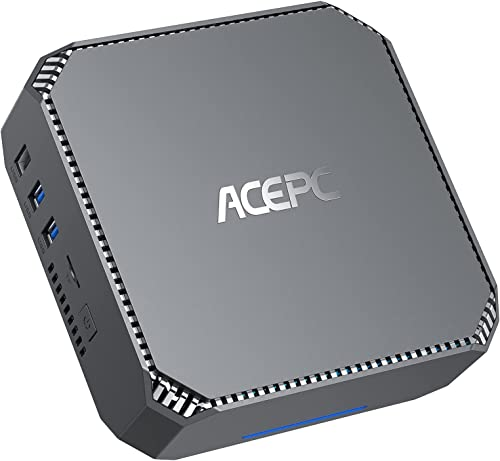 Mini PC, ACEPC AK2 Processeur Intel Celeron J3455 Windows 10 Pro Mini Ordinateur 6 Go de RAM/128 Go de ROM, Graphique...