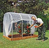 Juwel Tunnelfolie ohne Reissverschluss (Schutzfolie 3,5 x 4,9 m, für Tomatenhaus Größe 2, UV-stabilisiert, Witterungsschutz für Pflanzen, Folie nicht perforiert) 20113