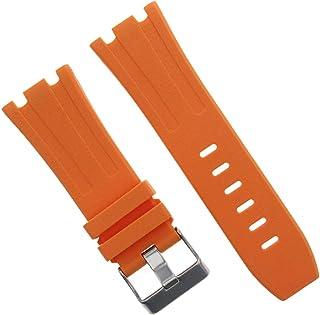 بند باند لاستیکی 28 میلی متر Ap سازگار با 42 میلی متر Audemars Piguet Royal Oak Offshore Orange