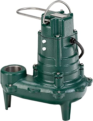 lowest Zoeller Waste-Mate 267-0002 Sewage Pump, 2021 1/2 HP Non-Automatic – Heavy-Duty Submersible online sale Sewage, Effluent or Dewatering Pump online