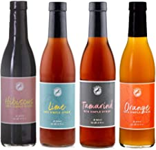 Blue Henry All Natural Simple Syrup 12 oz Variety 4 Pack - Hibiscus, Tamarind, Lime, Orange