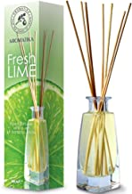 Reed Diffuser Lime 100ml - Fresh & Long Lasting Fragrance - Alcohol Free - Gift Set with 8 Bamboo Sticks - Best for Aromat...