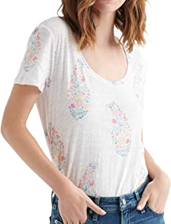 Lucky Brand womens ALL OVER PAISLEY FLORAL TEE T-Shirt