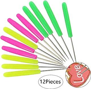 12 PCS Sugar Stir Needle Scriber Needle Modelling Tool Biscuit Cookie Icing Pin Cake Decorating Needle Tool Sugarcraft Cookie Decorating Supplies Baking Scribe Tool Marking Patterns