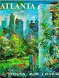 ABLERTRADE Atelstrade Blechschild, 20,3 x 30,5 cm, Atlanta