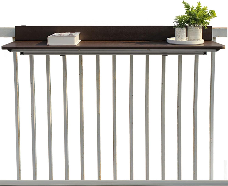 Mesa plegable de pared, Mesa de barandilla para patio al aire libre   De comedor colgante del balcón, mesa de barra ajustable de la mesa lateral de la mesa de cubierta   Muebles de jardín para patio