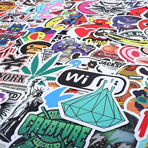 Laptop-Aufkleber, 100 Stück, wasserdicht, Vinyl, Vsco coole Aufkleber für Skateboard, Auto, Wasserflasche, Graffiti-Aufkleber, Aufkleber für Kinder, Teenager, Erwachsene (100 Stück Vinyl-Aufkleber)