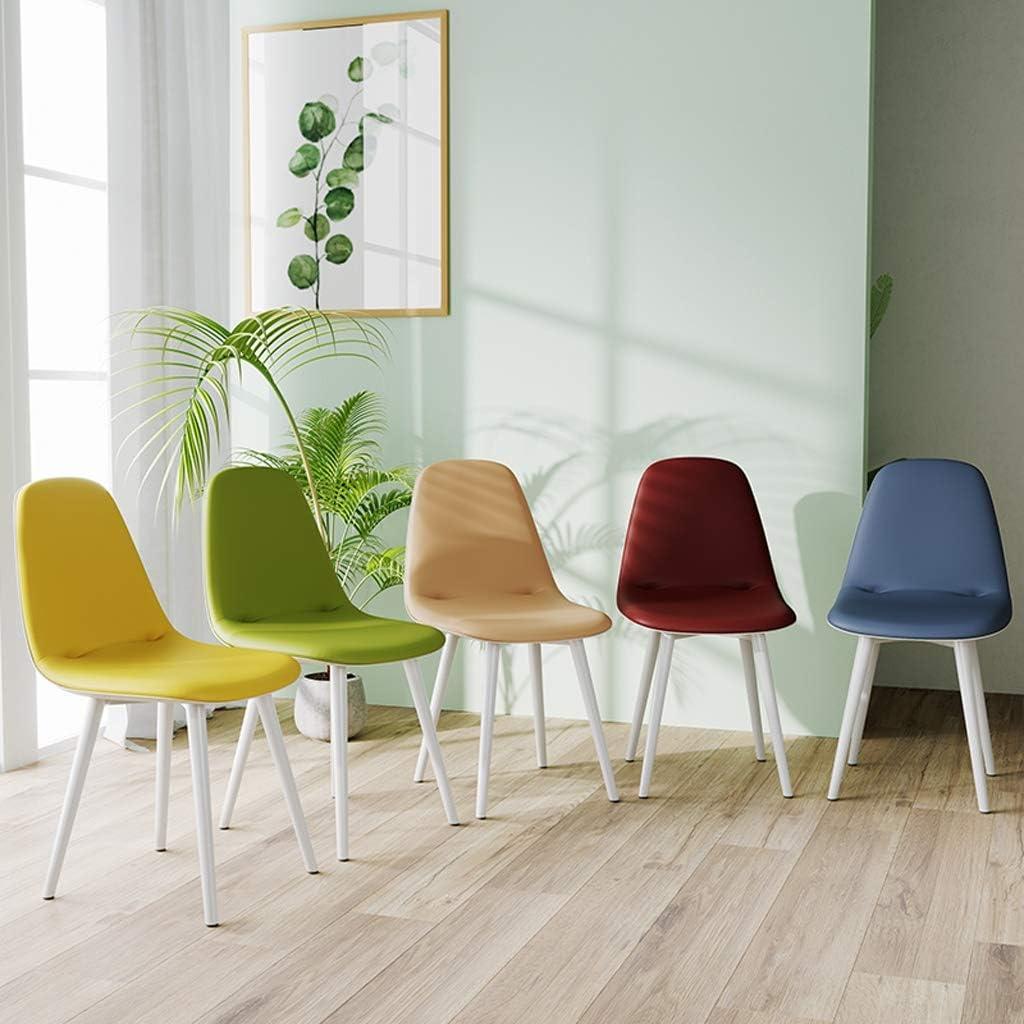 WDX- Chaise de Salle, Chaise de Bureau Simple, créative Dossier, Chaise Loisirs, Maison Adulte Chaise de Salle Confortable (Color : Red) Brown