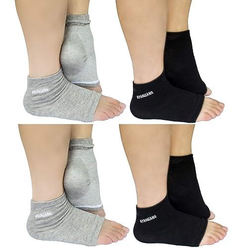 82a85b7de Vented Moisturizing Gel Heel Socks for Dry Hard Cracked Skin Moisturizing  Day Night Care Skin
