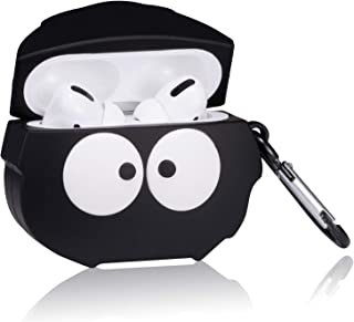 Lupct Black Big Eye Compatible with Airpods Pro/Airpods 3 Case Silicone,Cute Cartoon 3D Cool Air pods Design Cover,Fun Fashion Funny Cases for Kids Girls Teens Style Character Skin Keychain Airpod 3