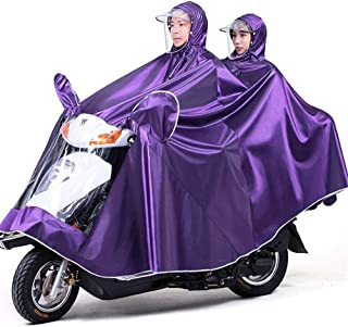 HYBAUDP Raincoat Poncho Set Electric Bike Raincoat, Oxford Cloth Portable Waterproof Hat Cap Thickening Ride Double Poncho for Outdoor Hiking Camping Unisex,Bluesingle