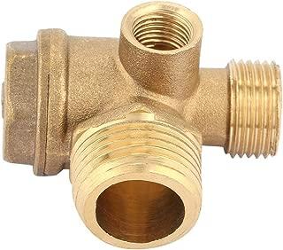 FTVOGUE Thread 3-Way Air Compressor Valve Male Threaded Non-Return Check Valve Spare Parts Tube Connector Tool 3 Port Brass