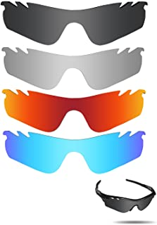 Fiskr Polarized Replacement Lenses for Oakley Radarlock Path Vented Sunglasses 4 Pairs Pack