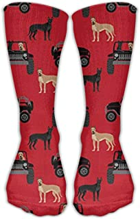 Great Dane in Cars Fashion Warm Winter Calcetines Cotton Crew Calcetines One Size for Women and Men(30cm)