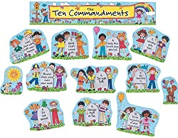 Teacher Created Resources Children's Ten Commandments Bulletin Board Display Set