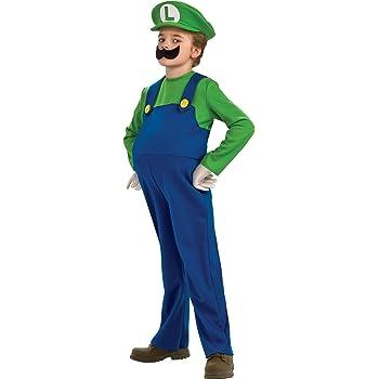 Disfraz Luigi Deluxe Niño: Amazon.es: Hogar